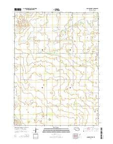 Chambers West Nebraska Current topographic map, 1:24000 scale, 7.5 X 7.5 Minute, Year 2014