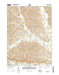 Clarkson SE Nebraska Current topographic map, 1:24000 scale, 7.5 X 7.5 Minute, Year 2014