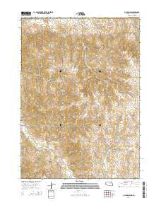 Clinton NW Nebraska Current topographic map, 1:24000 scale, 7.5 X 7.5 Minute, Year 2014