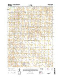 Coleridge Nebraska Current topographic map, 1:24000 scale, 7.5 X 7.5 Minute, Year 2014