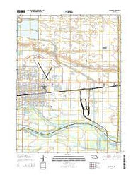 Columbus Nebraska Current topographic map, 1:24000 scale, 7.5 X 7.5 Minute, Year 2014