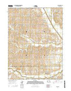 Cook Nebraska Current topographic map, 1:24000 scale, 7.5 X 7.5 Minute, Year 2014 from Nebraska Map Store
