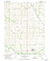 Cook Nebraska Historical topographic map, 1:24000 scale, 7.5 X 7.5 Minute, Year 1966