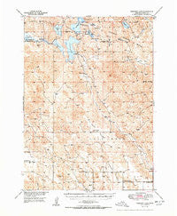 Crescent Lake Nebraska Historical topographic map, 1:62500 scale, 15 X 15 Minute, Year 1950