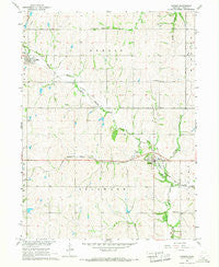 Dunbar Nebraska Historical topographic map, 1:24000 scale, 7.5 X 7.5 Minute, Year 1966