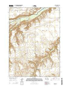 Dustin Nebraska Current topographic map, 1:24000 scale, 7.5 X 7.5 Minute, Year 2014