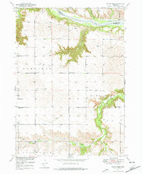 Dutch Creek Nebraska Historical topographic map, 1:24000 scale, 7.5 X 7.5 Minute, Year 1949