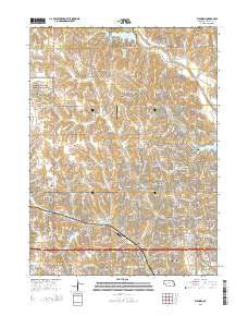 Elkhorn Nebraska Current topographic map, 1:24000 scale, 7.5 X 7.5 Minute, Year 2015