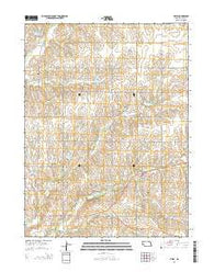 Filley Nebraska Current topographic map, 1:24000 scale, 7.5 X 7.5 Minute, Year 2014
