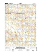 Foster Nebraska Current topographic map, 1:24000 scale, 7.5 X 7.5 Minute, Year 2014 from Nebraska Map Store