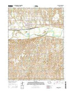 Franklin Nebraska Current topographic map, 1:24000 scale, 7.5 X 7.5 Minute, Year 2014 from Nebraska Map Store
