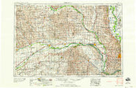 Fremont Nebraska Historical topographic map, 1:250000 scale, 1 X 2 Degree, Year 1958