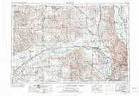 Fremont Nebraska Historical topographic map, 1:250000 scale, 1 X 2 Degree, Year 1955