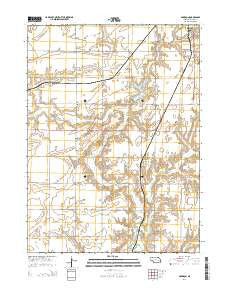 Garrison Nebraska Current topographic map, 1:24000 scale, 7.5 X 7.5 Minute, Year 2014