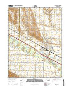 Gothenburg Nebraska Current topographic map, 1:24000 scale, 7.5 X 7.5 Minute, Year 2014