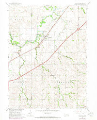 Greenwood Nebraska Historical topographic map, 1:24000 scale, 7.5 X 7.5 Minute, Year 1966