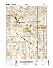 Hastings East Nebraska Current topographic map, 1:24000 scale, 7.5 X 7.5 Minute, Year 2014