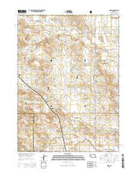 Horn Nebraska Current topographic map, 1:24000 scale, 7.5 X 7.5 Minute, Year 2014