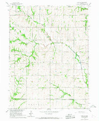 Howe SW Nebraska Historical topographic map, 1:24000 scale, 7.5 X 7.5 Minute, Year 1966