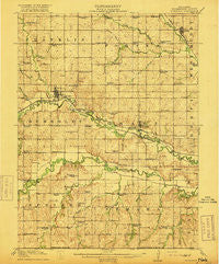 Humboldt Nebraska Historical topographic map, 1:62500 scale, 15 X 15 Minute, Year 1916