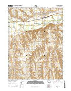 Indianola Nebraska Current topographic map, 1:24000 scale, 7.5 X 7.5 Minute, Year 2014 from Nebraska Map Store