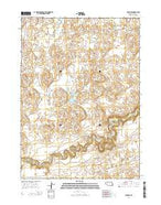 Irwin SE Nebraska Current topographic map, 1:24000 scale, 7.5 X 7.5 Minute, Year 2014 from Nebraska Map Store