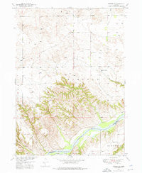 Jamison SW Nebraska Historical topographic map, 1:24000 scale, 7.5 X 7.5 Minute, Year 1949