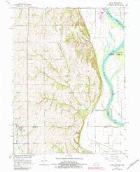 Julian Nebraska Historical topographic map, 1:24000 scale, 7.5 X 7.5 Minute, Year 1966