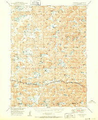 Lakeside Nebraska Historical topographic map, 1:62500 scale, 15 X 15 Minute, Year 1950