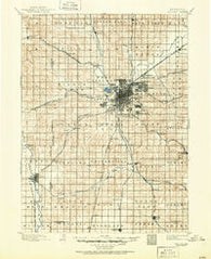 Lincoln Nebraska Historical topographic map, 1:125000 scale, 30 X 30 Minute, Year 1897