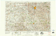 Lincoln Nebraska Historical topographic map, 1:250000 scale, 1 X 2 Degree, Year 1958