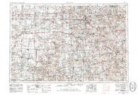 Lincoln Nebraska Historical topographic map, 1:250000 scale, 1 X 2 Degree, Year 1955