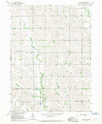 Lindsay SW Nebraska Historical topographic map, 1:24000 scale, 7.5 X 7.5 Minute, Year 1966