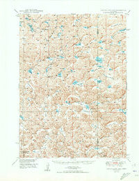 Longfellow Lake Nebraska Historical topographic map, 1:62500 scale, 15 X 15 Minute, Year 1950