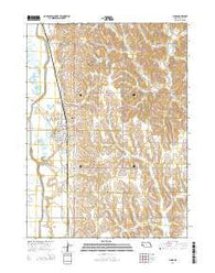 Lyons Nebraska Current topographic map, 1:24000 scale, 7.5 X 7.5 Minute, Year 2014