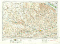 McCook Nebraska Historical topographic map, 1:250000 scale, 1 X 2 Degree, Year 1958