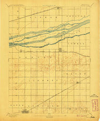 Minden Nebraska Historical topographic map, 1:62500 scale, 15 X 15 Minute, Year 1894