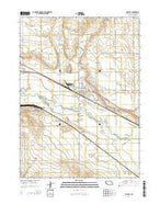 Mitchell Nebraska Current topographic map, 1:24000 scale, 7.5 X 7.5 Minute, Year 2014 from Nebraska Map Store
