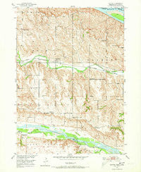 Monowi Nebraska Historical topographic map, 1:24000 scale, 7.5 X 7.5 Minute, Year 1950