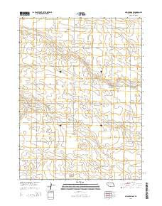 Mud Springs SE Nebraska Current topographic map, 1:24000 scale, 7.5 X 7.5 Minute, Year 2014
