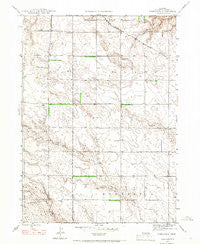 Nonpareil Nebraska Historical topographic map, 1:24000 scale, 7.5 X 7.5 Minute, Year 1946