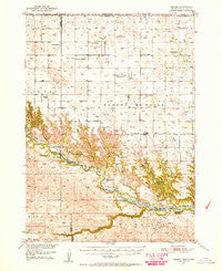 Norden Nebraska Historical topographic map, 1:62500 scale, 15 X 15 Minute, Year 1950