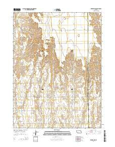 Oxford NW Nebraska Current topographic map, 1:24000 scale, 7.5 X 7.5 Minute, Year 2014