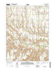 Pauline Nebraska Current topographic map, 1:24000 scale, 7.5 X 7.5 Minute, Year 2014