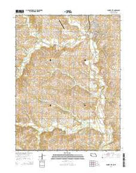 Pawnee City Nebraska Current topographic map, 1:24000 scale, 7.5 X 7.5 Minute, Year 2014