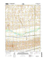 Paxton North Nebraska Current topographic map, 1:24000 scale, 7.5 X 7.5 Minute, Year 2014