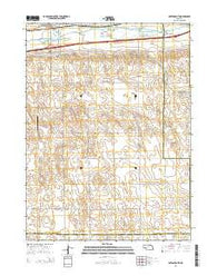 Paxton South Nebraska Current topographic map, 1:24000 scale, 7.5 X 7.5 Minute, Year 2014