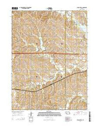 Pleasant Dale Nebraska Current topographic map, 1:24000 scale, 7.5 X 7.5 Minute, Year 2014