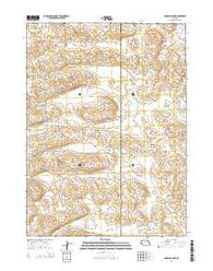 Rosebud Lake Nebraska Current topographic map, 1:24000 scale, 7.5 X 7.5 Minute, Year 2014