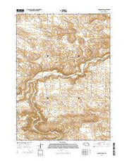 Rushville SW Nebraska Current topographic map, 1:24000 scale, 7.5 X 7.5 Minute, Year 2014 from Nebraska Maps Store